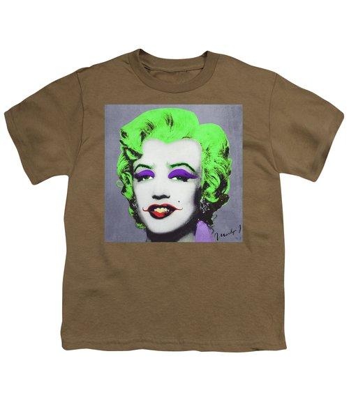 Joker Marilyn Youth T-Shirt by Filippo B