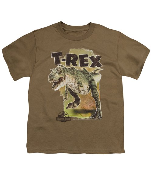 Jurassic Park - T Rex Youth T-Shirt by Brand A