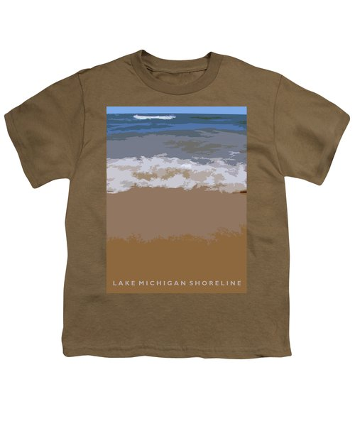 Lake Michigan Shoreline Youth T-Shirt by Michelle Calkins