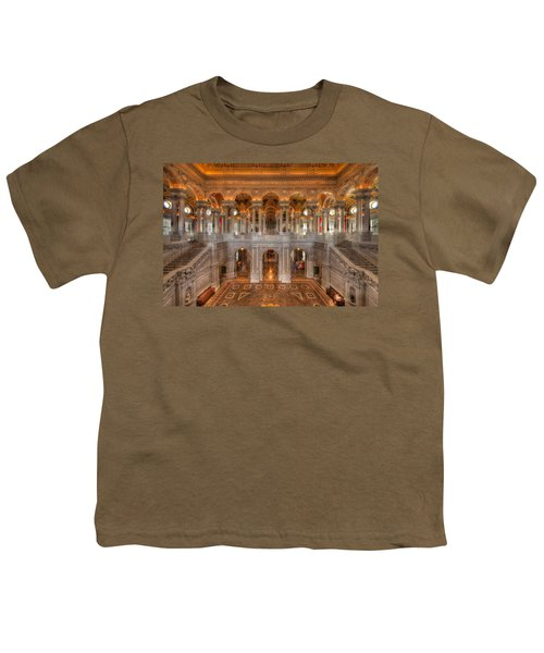 Library Of Congress Youth T-Shirt by Steve Gadomski