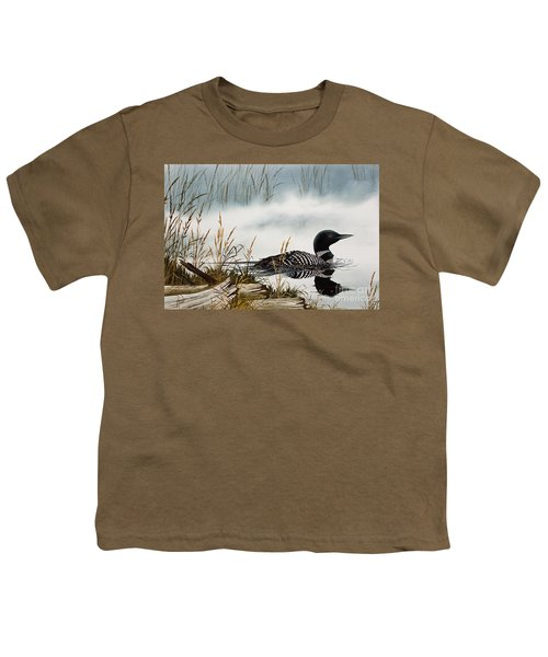 Loons Misty Shore Youth T-Shirt by James Williamson