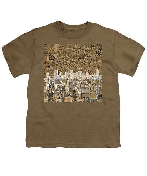 Nashville Skyline Abstract 2 Youth T-Shirt by Bekim Art