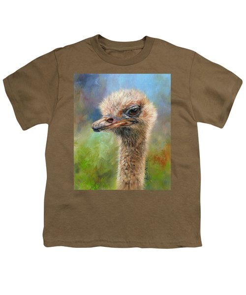 Ostrich Youth T-Shirt by David Stribbling