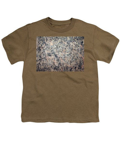 Pollock's Number 1 -- 1950 -- Lavender Mist Youth T-Shirt by Cora Wandel