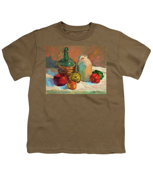 Pottery And Vegetables Youth T-Shirt by Diane McClary