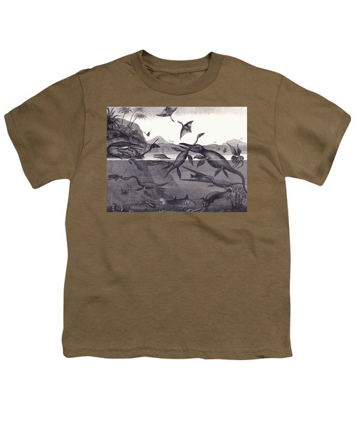 Prehistoric Animals Of The Lias Group Youth T-Shirt by English School