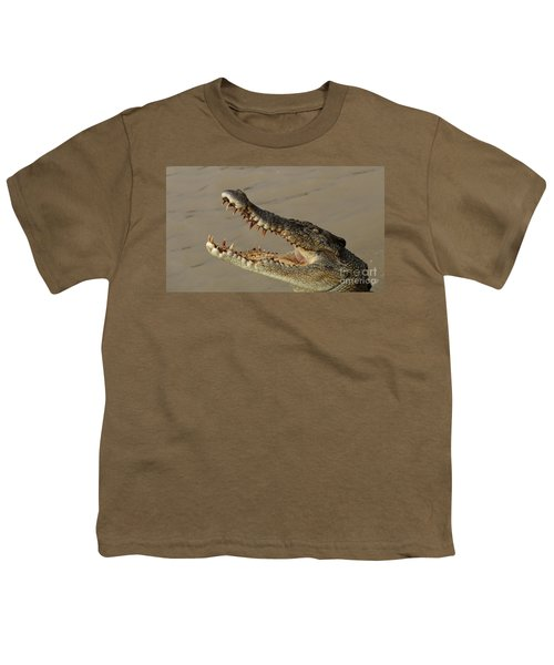Salt Water Crocodile 1 Youth T-Shirt by Bob Christopher