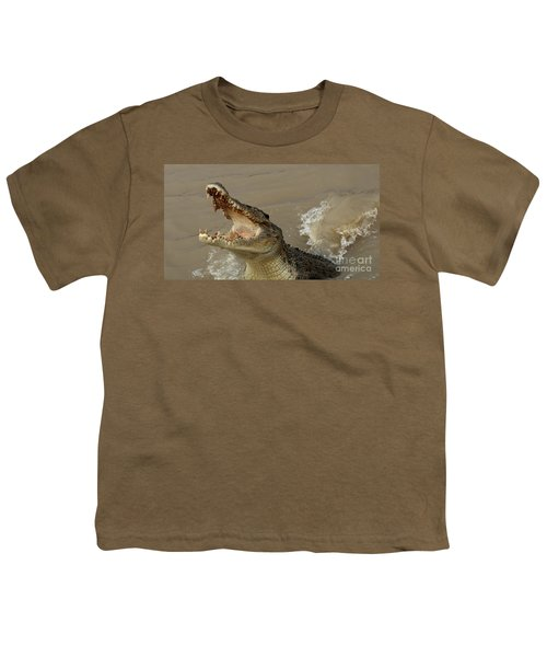 Salt Water Crocodile 2 Youth T-Shirt by Bob Christopher