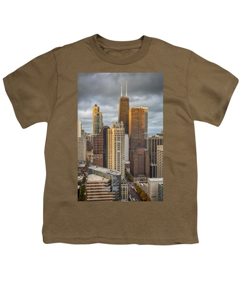 Streeterville From Above Youth T-Shirt by Adam Romanowicz