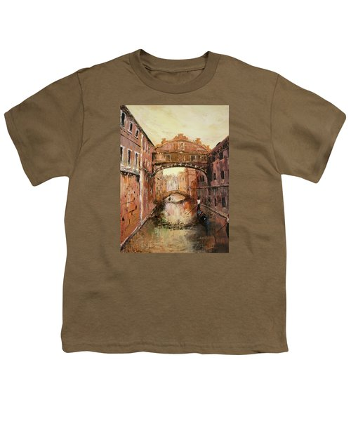 The Bridge Of Sighs Venice Italy Youth T-Shirt by Jean Walker