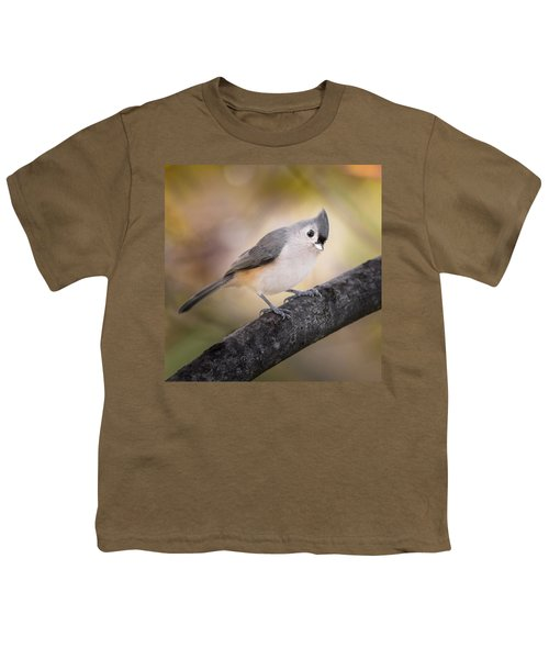 Tufted Titmouse Youth T-Shirt by Bill Wakeley