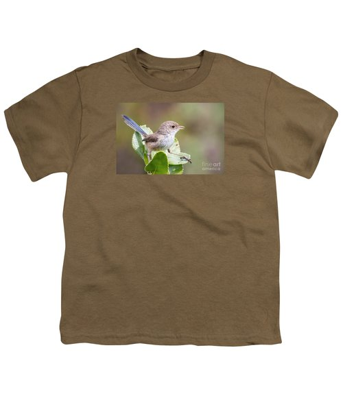 White Winged Fairy Wren Youth T-Shirt by Kym Clarke