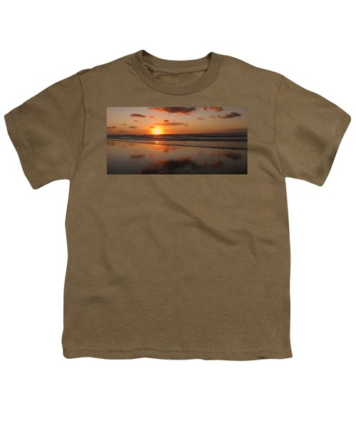 Wildwood Beach Sunrise Youth T-Shirt by David Dehner