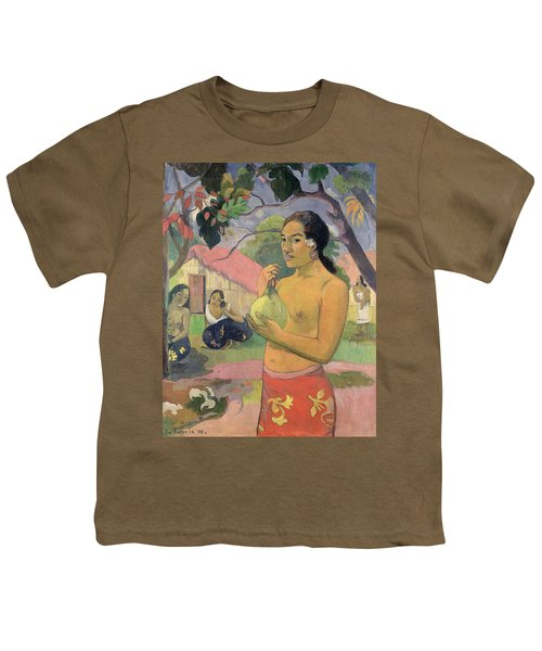Woman With Mango Youth T-Shirt by Paul Gauguin