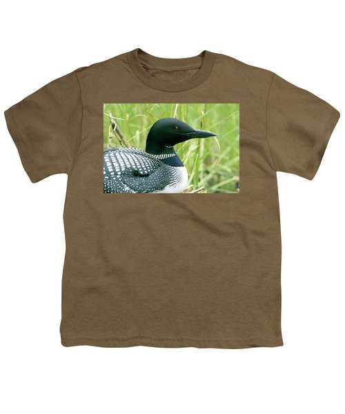 Common Loon, La Mauricie National Park Youth T-Shirt by Philippe Henry