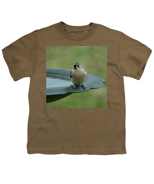 Tufted Titmouse Youth T-Shirt by Sandy Keeton