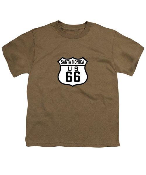 Santa Monica Youth T-Shirt by Brian's T-shirts