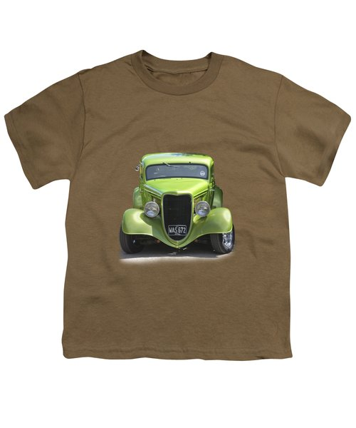1934 Ford Street Hot Rod On A Transparent Background Youth T-Shirt by Terri Waters