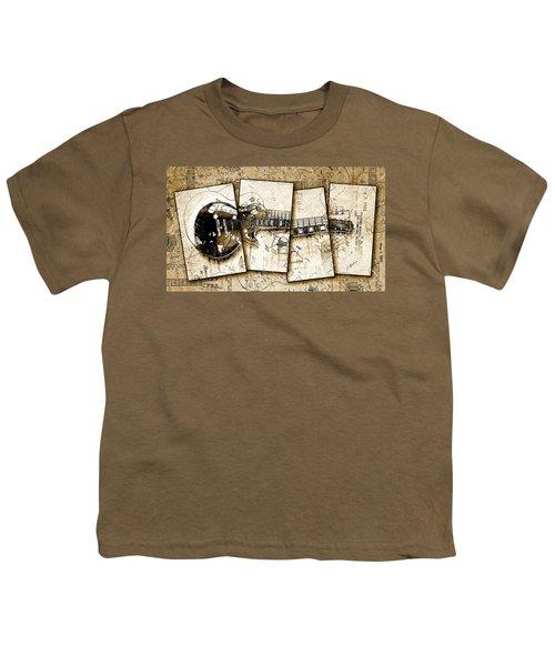 1955 Les Paul Custom Black Beauty V5 Youth T-Shirt by Gary Bodnar