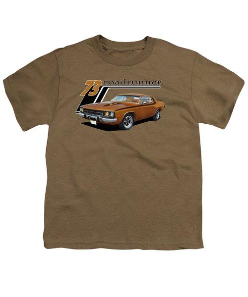 1973 Roadrunner Youth T-Shirt by Paul Kuras