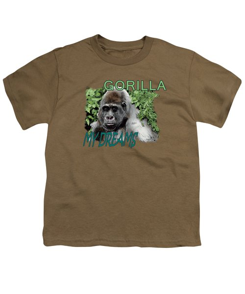 Gorilla My Dreams Youth T-Shirt by Joseph Juvenal