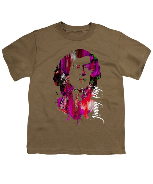 Jimmy Page Collection Youth T-Shirt by Marvin Blaine