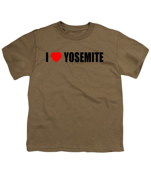 Yosemite National Park Youth T-Shirt by Brian's T-shirts