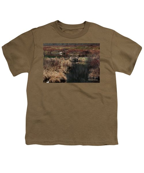A Beaver's Work Youth T-Shirt by Skip Willits