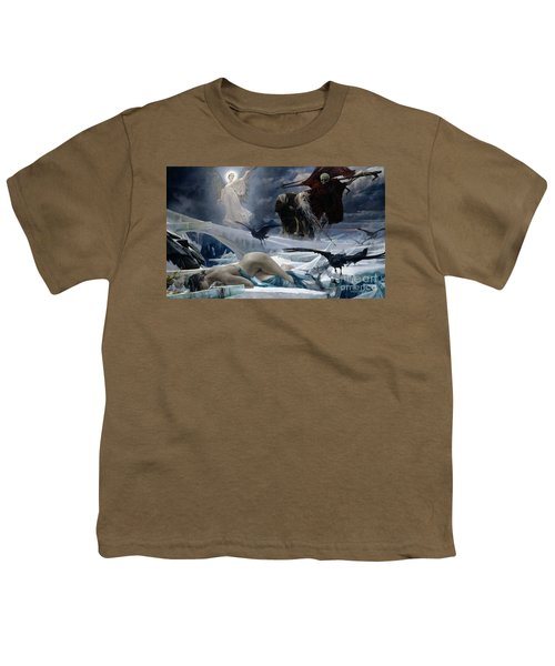 Ahasuerus At The End Of The World Youth T-Shirt by Adolph Hiremy Hirschl