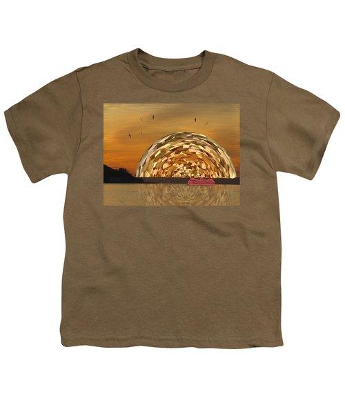 Albatross Setting Youth T-Shirt by Tim Allen