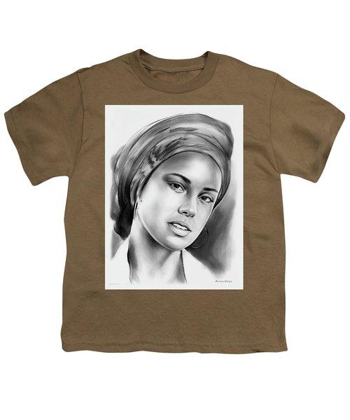 Alicia Keys 2 Youth T-Shirt by Greg Joens