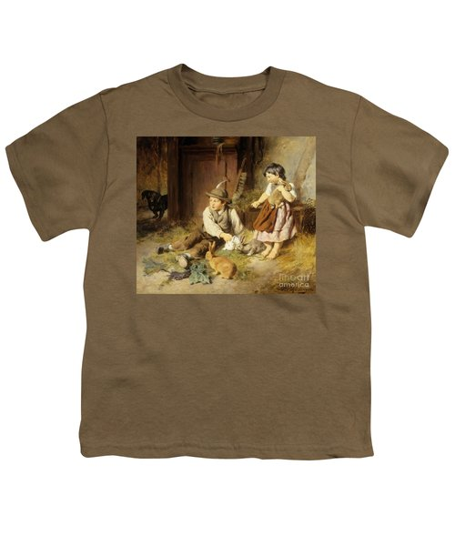 An Unwelcome Visitor Youth T-Shirt by Felix Schlesinger