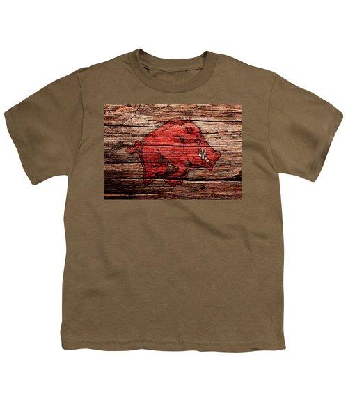 Arkansas Razorbacks 1a Youth T-Shirt by Brian Reaves