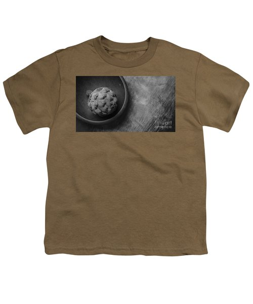 Artichoke Black And White Still Life Three Youth T-Shirt by Edward Fielding