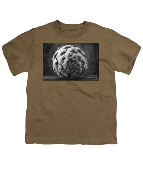 Artichoke Black And White Still Life Two Youth T-Shirt by Edward Fielding