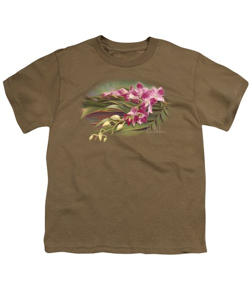 Dendrobium Orchids Youth T-Shirt by Lucie Bilodeau