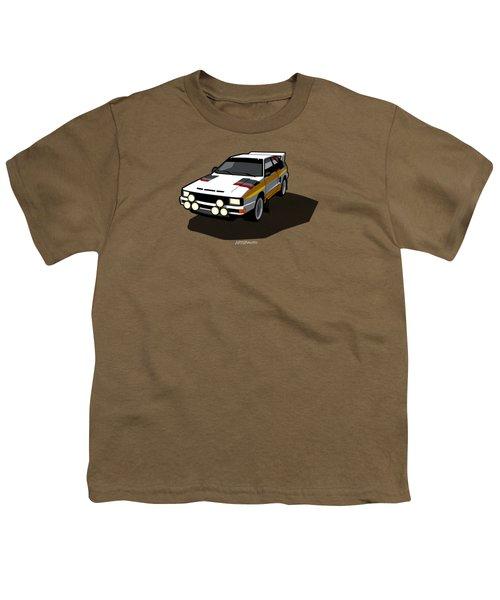 Audi Sport Quattro Ur-quattro Rally Poster Youth T-Shirt by Monkey Crisis On Mars