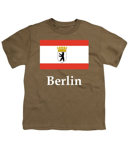 Berlin, Germany Flag And Name Youth T-Shirt by Frederick Holiday