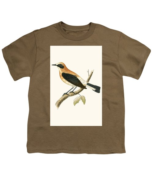 Black Eared Wheatear Youth T-Shirt by English School