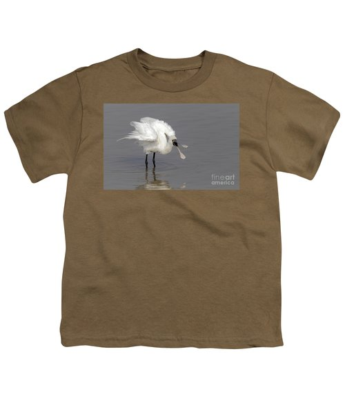 Black-faced Spoonbill Youth T-Shirt by Martin Hale/FLPA