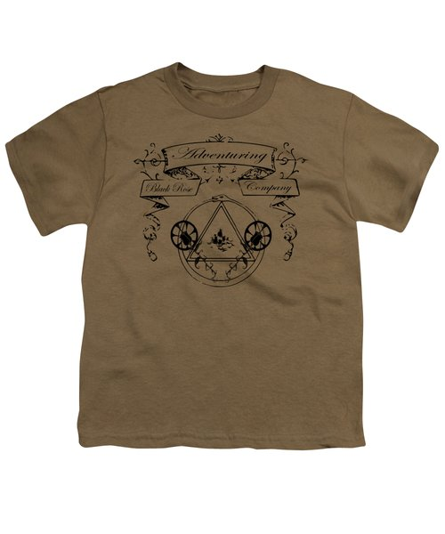 Black Rose Adventuring Co. Youth T-Shirt by Nyghtcore Studio