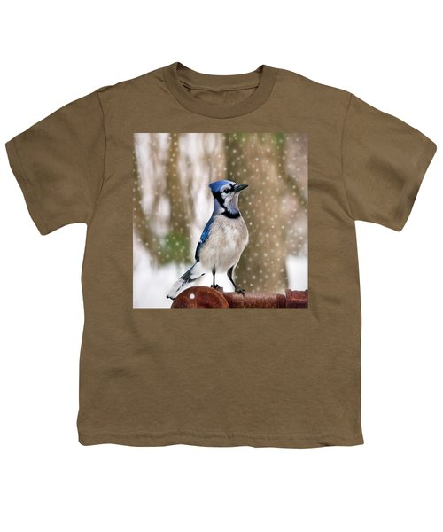 Blue For You Youth T-Shirt by Evelina Kremsdorf
