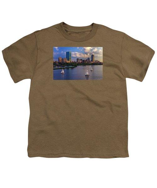 Boston Skyline Youth T-Shirt by Rick Berk