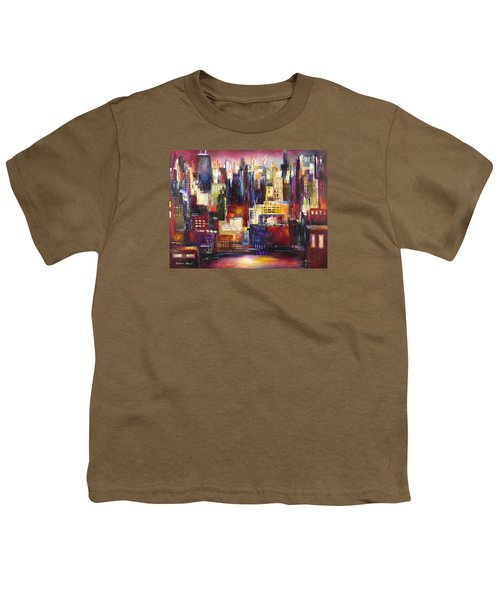 Chicago City View Youth T-Shirt by Kathleen Patrick