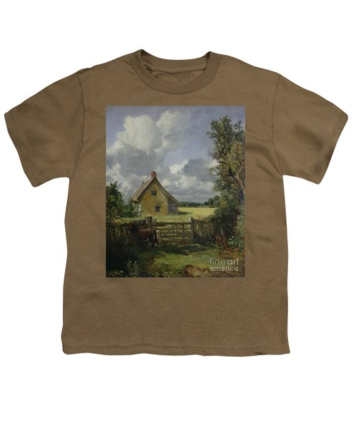 Cottage In A Cornfield Youth T-Shirt by John Constable