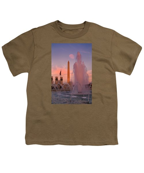 Dc Sunset Youth T-Shirt by Betsy Knapp