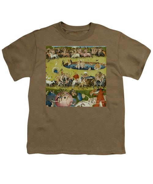Detail From The Central Panel Of The Garden Of Earthly Delights Youth T-Shirt by Hieronymus Bosch