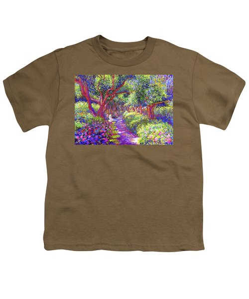 Dove And Healing Garden Youth T-Shirt by Jane Small