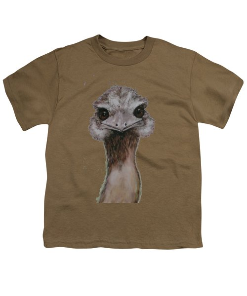 Emu Selfie Youth T-Shirt by Kathy Carothers