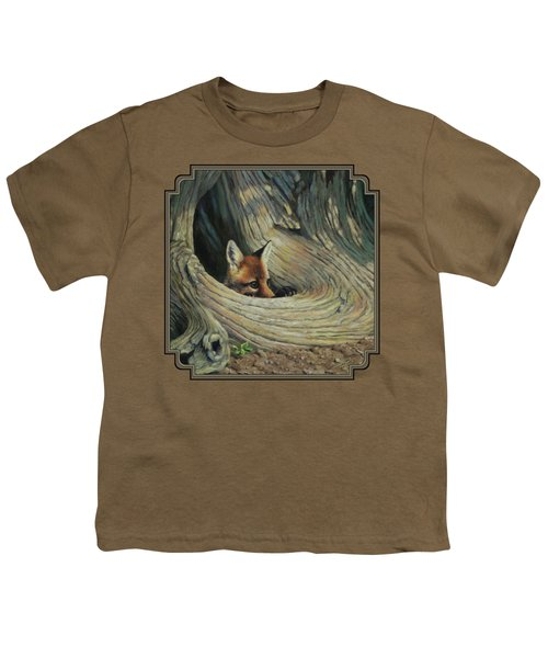 Fox - It's A Big World Out There Youth T-Shirt by Crista Forest